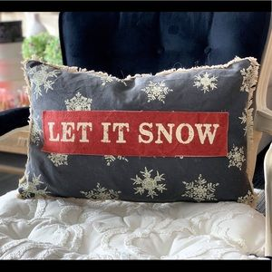 Let It Snow Canvas Pillow